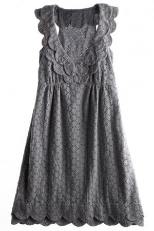 Adorable gray dress.
