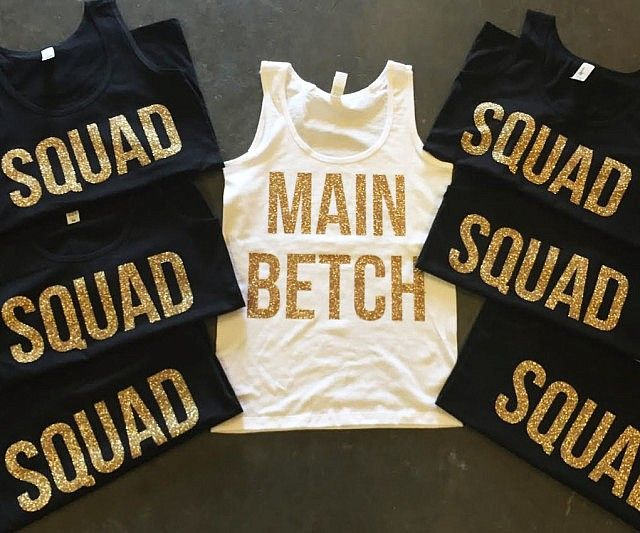 Throw a bachelorette party for the ages by having your whole squad wear these cute bachelorette party shirts. They're completely customizable, so you and your best betches can paint the whole town red before the big day.