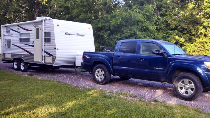 Our Travel Trailer And Truck R Vision Ss 19fs Towed By An