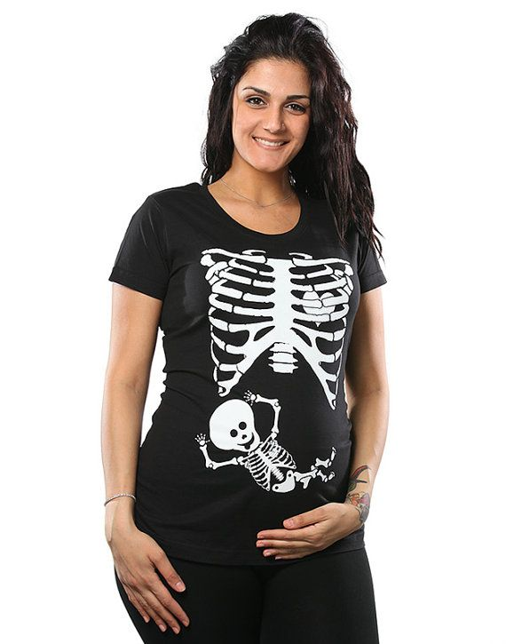 Bébé enceinte squelette Cage thoracique T-Shirt grossesse drôle Costume bébé…