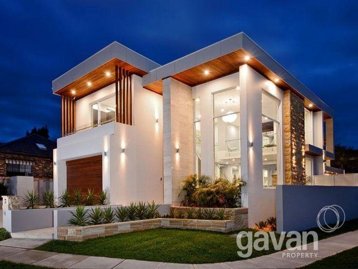 25 b sta id erna om house facades p pinterest modern for Exterior facade design