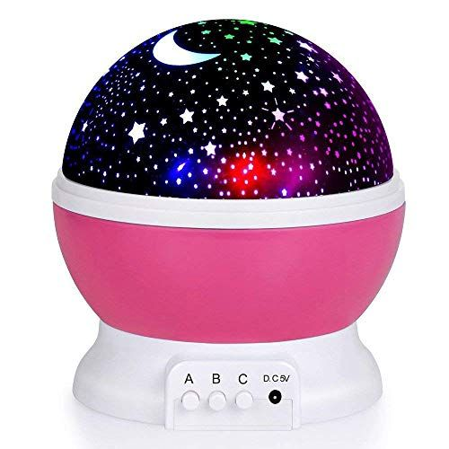 Krevia Plastic Romantic Led Night Light 360 Degree Rotation 4 Led Bulbs 1pc Blue Color Star Night Light Baby Night Light Night Light Projector