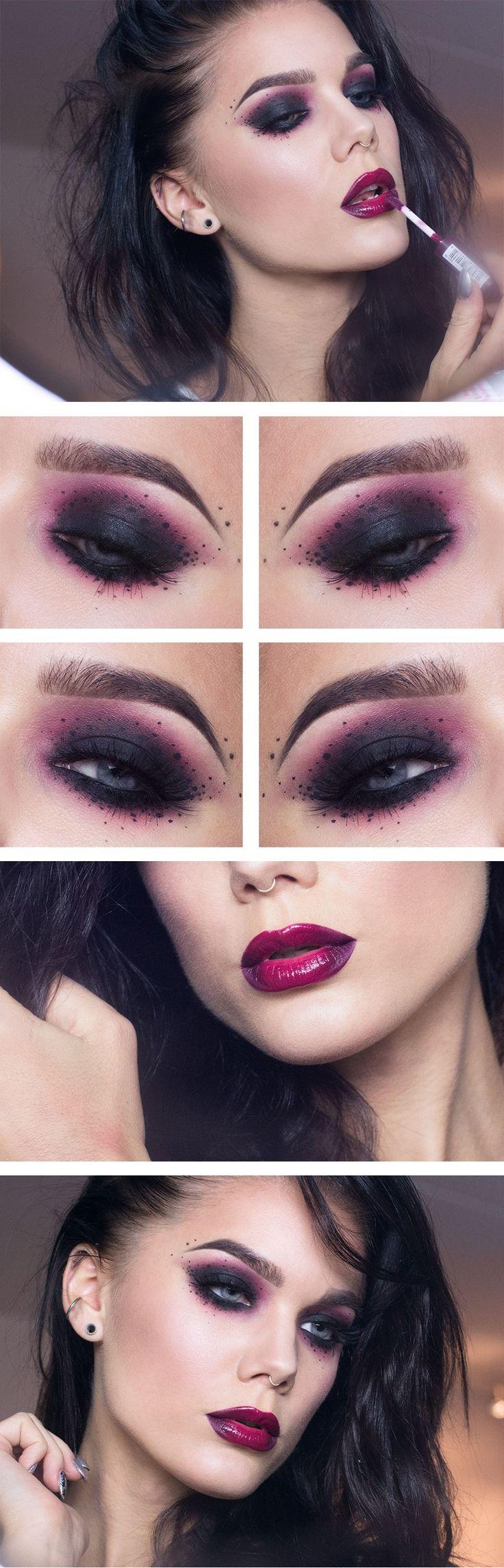 Jag har använt/I've used Too faced shadow insurance MAC eyeshadow Carbon Make upp geek eyeshadow Razzleberry...
