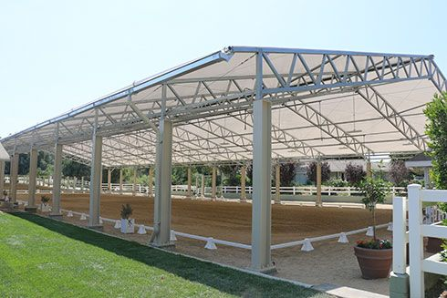 Clearridge fabric roof riding arena
