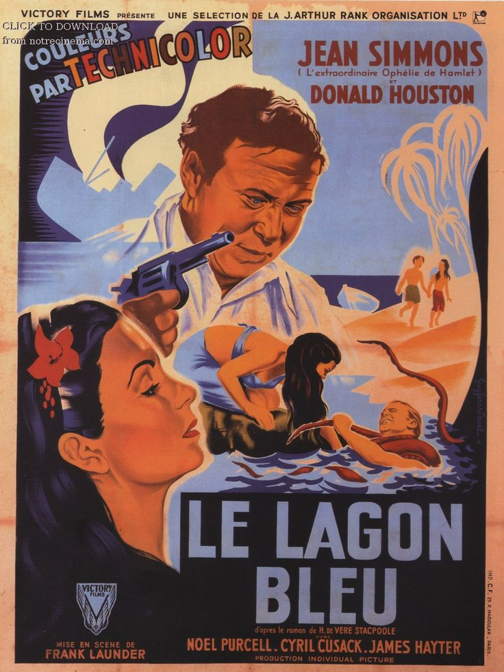 Le Lagon bleu (The Blue lagoon) de Frank Launder ( 1948 - U.S.A. )