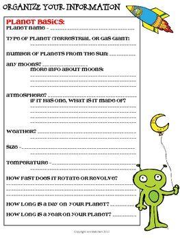 CREATE AN ALIEN - A SPACE AND PLANET PROJECT - TeachersPayTeachers.com