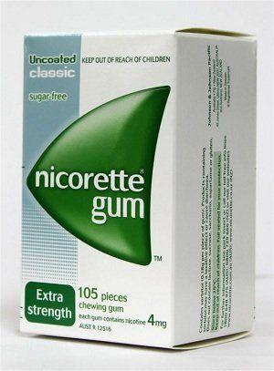 Nicorette Nicotine Gum 4mg Classic Original 630 Pieces 6 Boxes