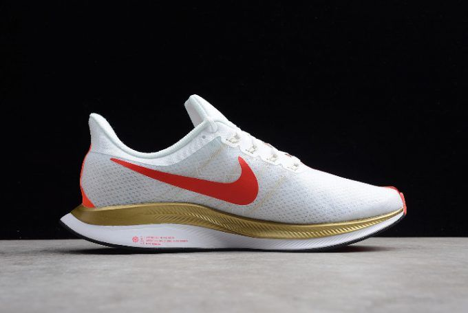 b56c49973498d Nike Air Zoom Pegasus 35 Turbo 2.0 White Red-Gold For Men in 2019 ...
