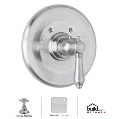 Rohl A4914XM Country Bath Thermostatic Shower Valve Trim (Trim Only) with Metal Cross Handle (inca brass)