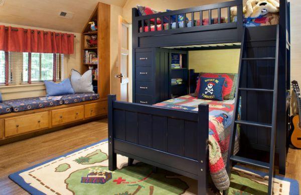 Themenzimmer für Kinder Jungenzimmer-Piraten Schiff Motive