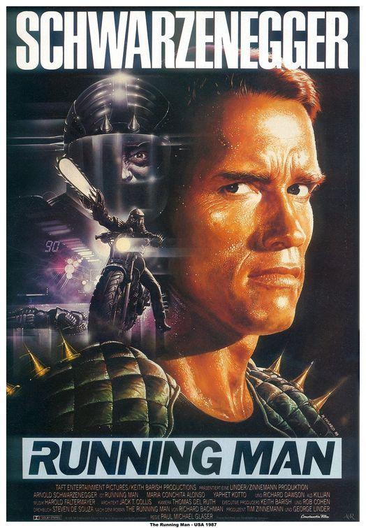 Running man. La monoespressione di Arnold non aiuta, eppure questo film ha una sua motivazione per esistere. In puro stile anni '80 è tutt'oggi godibilissimo. Comicissimo il cattivo che canta aria liriche ....