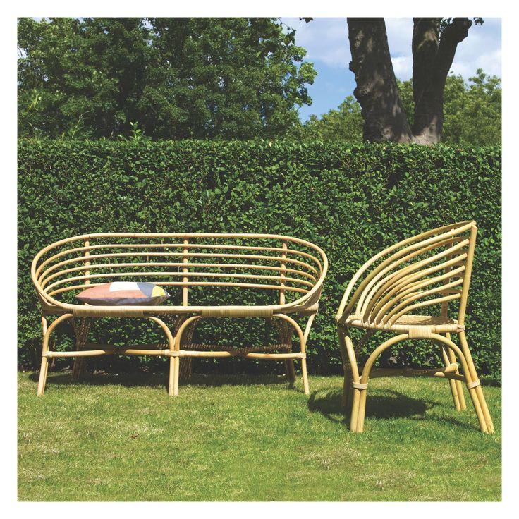 Rattan Garden Bench Part - 30: AVIA Rattan Garden Dining Chair