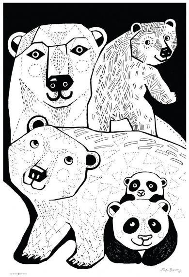Sofie B�rsting - Graphic Bear A3