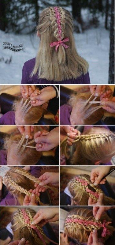 four strand ribbon braid pictorial