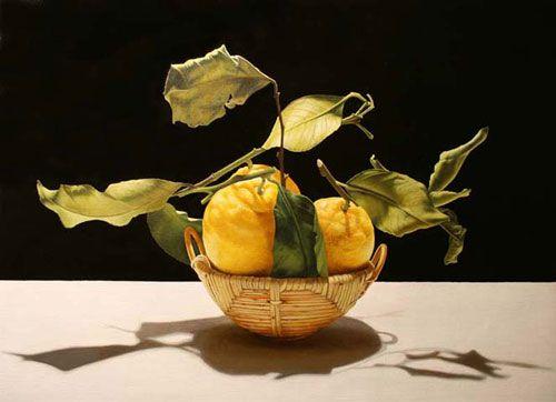 Корзинка с лимонами