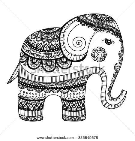 Best 25 Tribal Elephant Drawing Ideas On Pinterest
