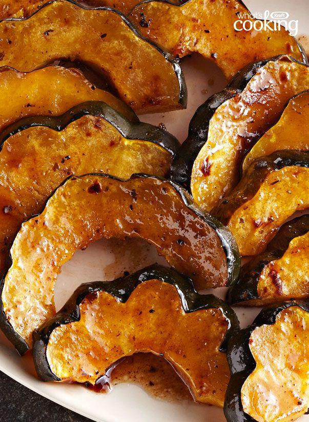 Balsamic-Maple Acorn Squash #recipe