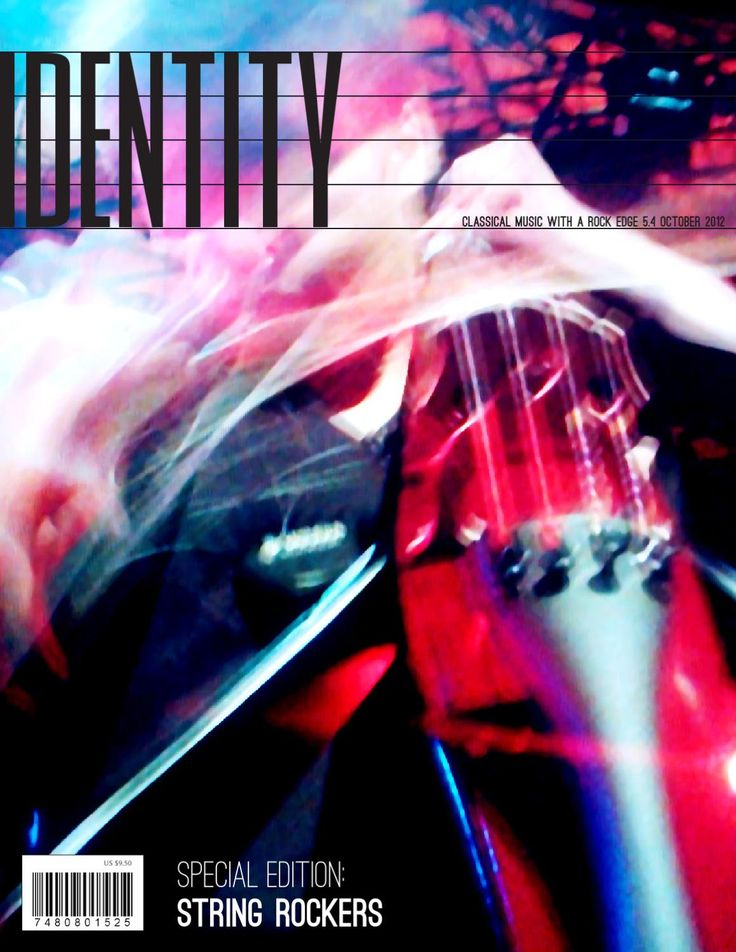 Identity  fictional magazine about classical music with a rock edge; string rockers issue