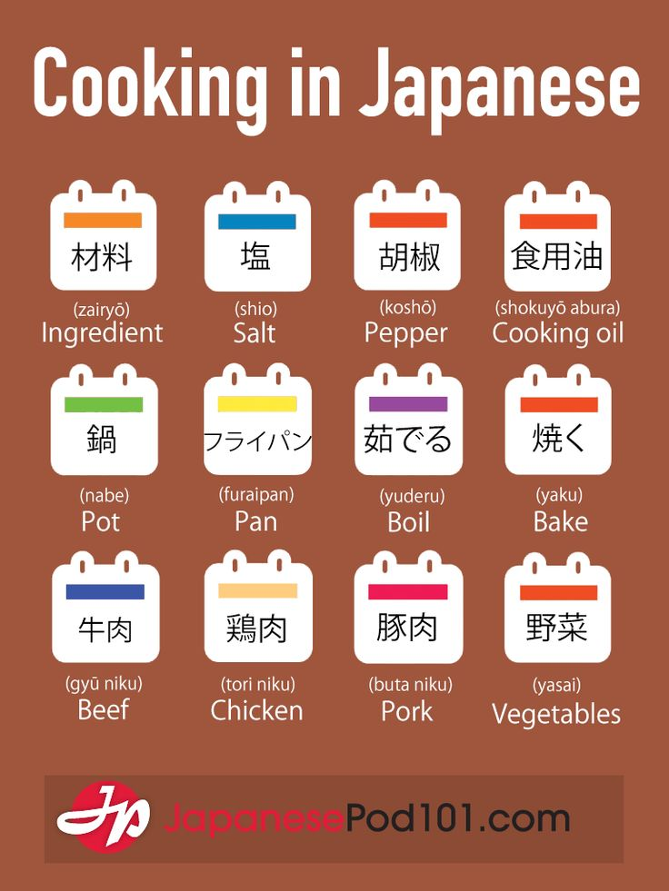 Learn Japanese - JapanesePod101.com — Cooking in Japanese PS: Start learning Japanese...