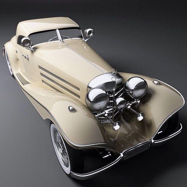 #Mercedes-Benz M-540K #1937 #vintage car #oldtimer