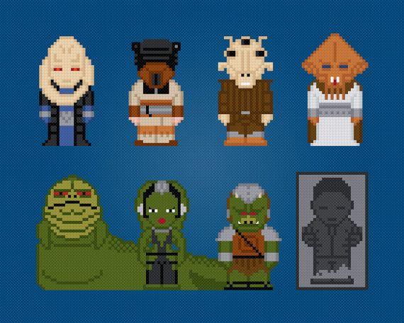 Star Wars - Jabbas Palace Characters - Cross Stitch PDF Pattern Download via Etsy