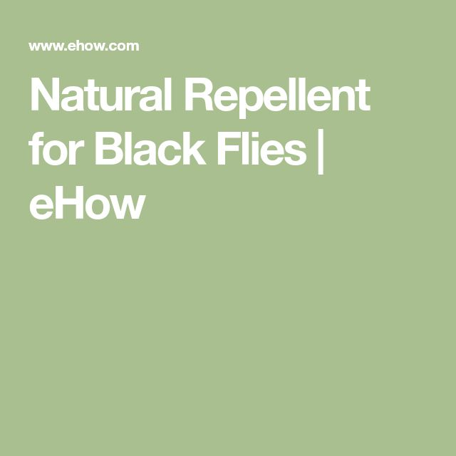 Natural Repellent for Black Flies | eHow