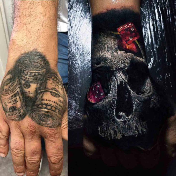 Gambler Tattoo Cover Up Cover Up Tattoos Cover Tattoo Hand