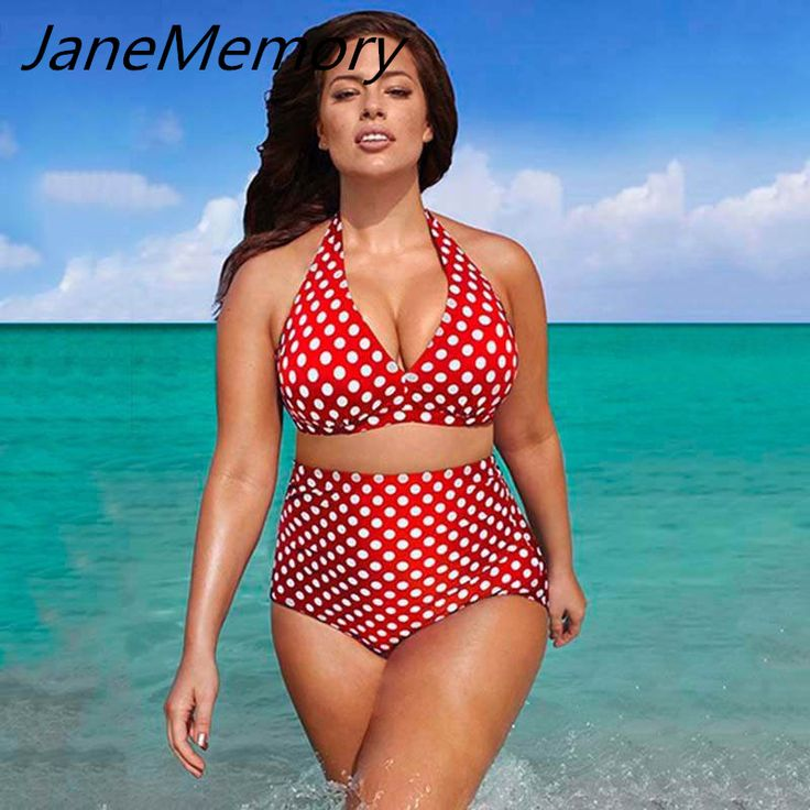 Goedkope Plus Size 6XL Size Badmode Dot Hoge Taille Halter Bikini Set Zomer Vrouwen Sexy Badpak #231037, koop Kwaliteit bikini set rechtstreeks van Leveranciers van China: Plus Size 6XL Size Badmode Dot Hoge Taille Halter Bikini Set Zomer Vrouwen Sexy Badpak #231037