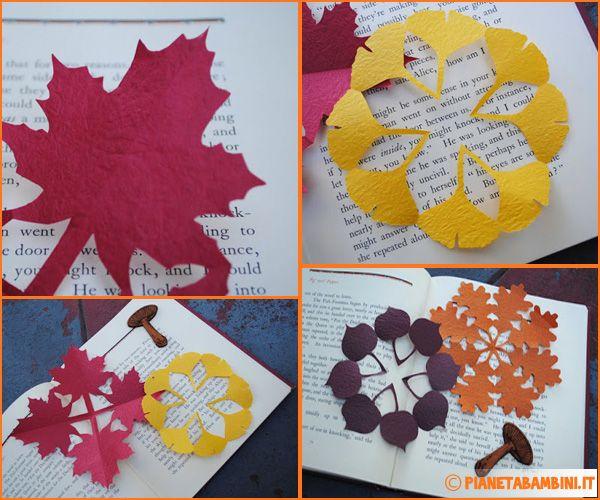 Lavoretti sull'autunno: foglie autunnali con tecnica kirigami