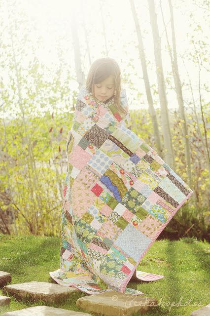 @ For the love....: Matilda Jane Quilt - made for a little girl from her old clothes