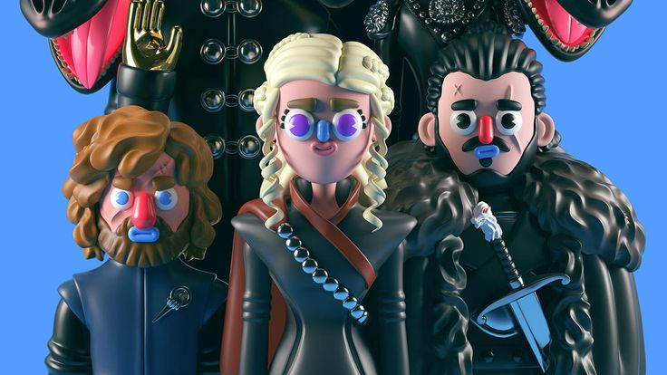 Game of Thrones – The pop and colorful sculptures of Grand Chamaco