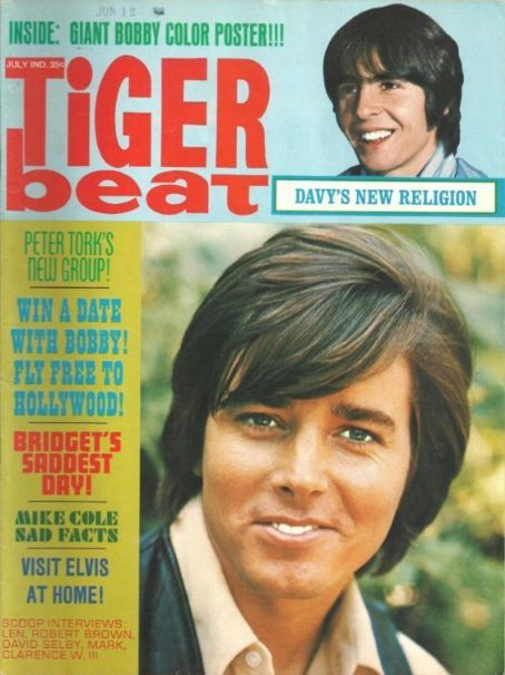 Tiger Beat Magazine with Bobby Sherman...