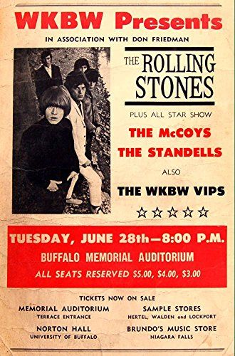 """The Rolling Stones - Buffalo Memorial Auditorium."" Fantastic A4 Glossy Art Print Taken from A Vintage Concert Poster by Design Artist http://www.amazon.co.uk/dp/B01565O3BU/ref=cm_sw_r_pi_dp_fUt8vb1AQ3PK9"