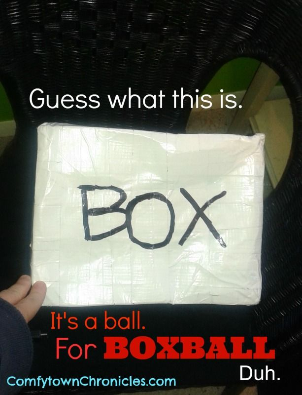 Found one of our original BOXBall boxes. What is boxball? Find out soon at www.comfytownchronicles.com