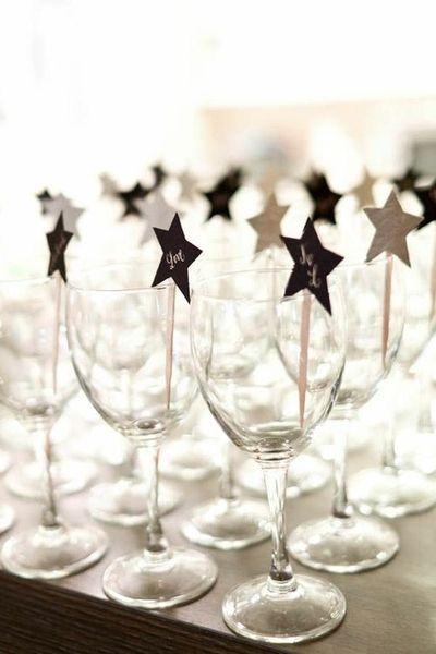 Stars on a stick (drink stirrers)