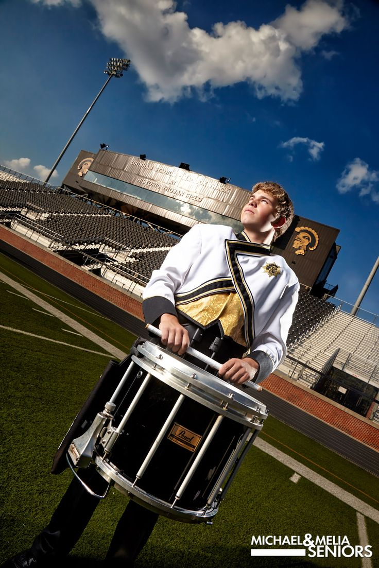 marching band senior portraits |