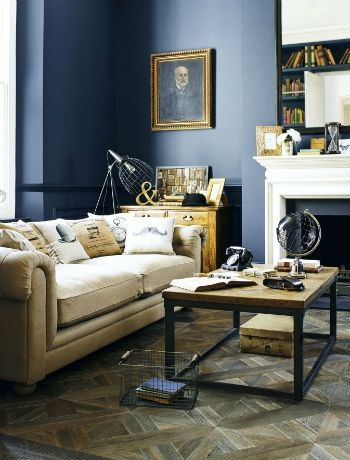 Victorian drama - living room design trends 2014, decorating a living room, period property, wooden floor