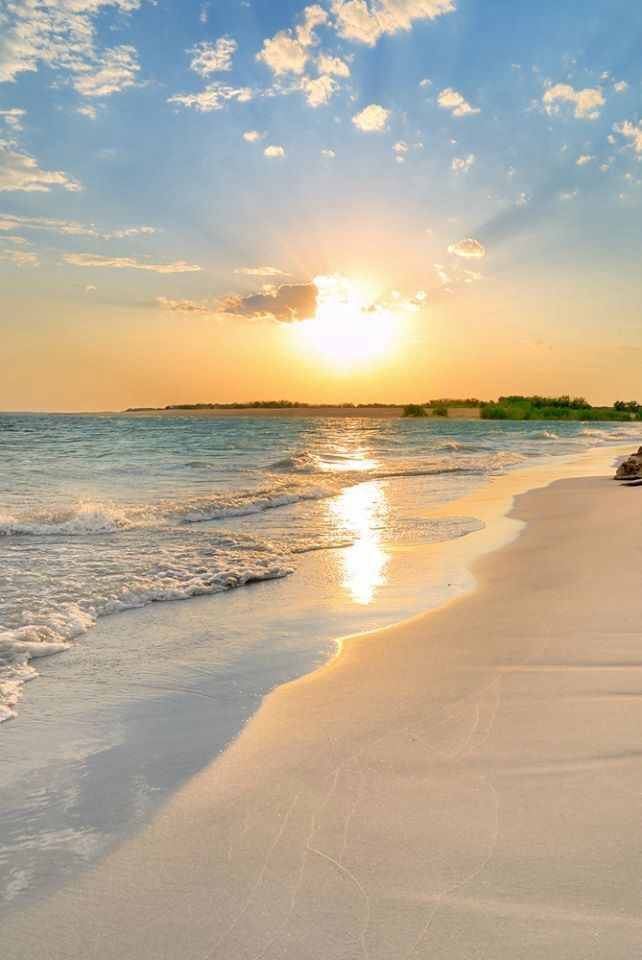 Galveston beach. Looks like a beautiful place to take a walk and let the stress of the day melt away.