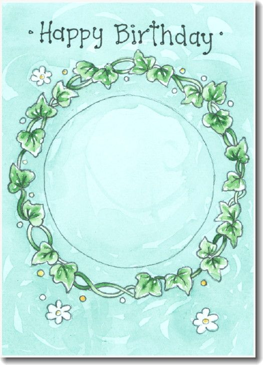 ... but a nice printable card for your stitching. Just cut out the circle