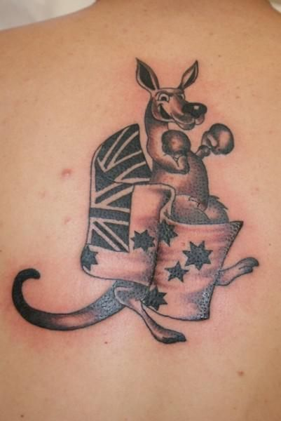 Australian Flag and kangaroo picture