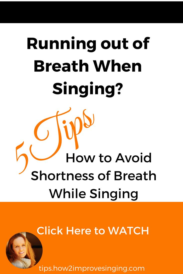 Click here to watch a video about how not to run out of air when singing: https://youtu.be/spSog7GFBR8