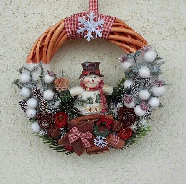 Karácsonyi ajtódísz (Cs.T.)