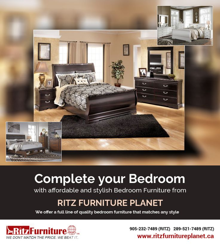 Complete Your Bedroom with affordable and stylish #BedroomFurniture in #Mississauga from Ritz #Furniture Planet Ltd.  Visit our store located at: 5200 Dixie Rd, Mississauga, #Ontario L4W 1E8, #Canada  Website: http://www.ritzfurnitureplanet.ca/Bedroom-Furniture/  Phone: 905-232-7489, 289-521-7489  #Bedroom #SALE #Bed #stylishBedroomFurniture