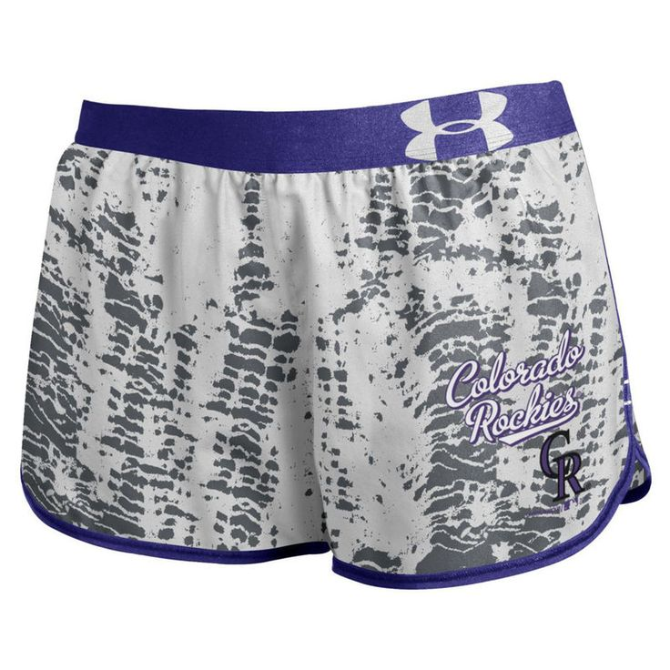 Colorado Rockies Under Armour Women's Tied Up Performance Running Shorts - Gray