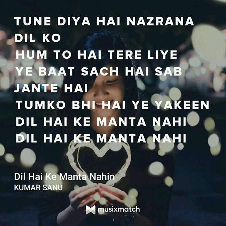 Dil Hain ki manta nahi by Kumar Sanu
