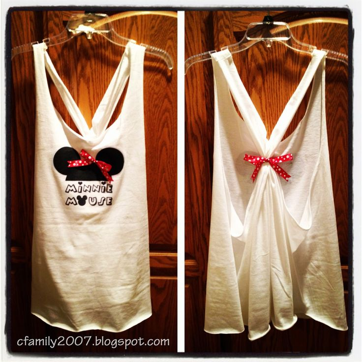 The Simple Life: DIY Minnie Mouse tank shirt