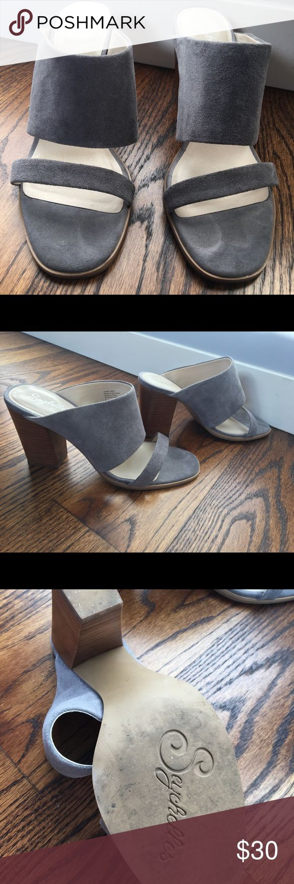 Seychelles - Grey Slides Super cute slides in grey suede, perfect for jeans and a cute top! Seychelles Shoes Sandals