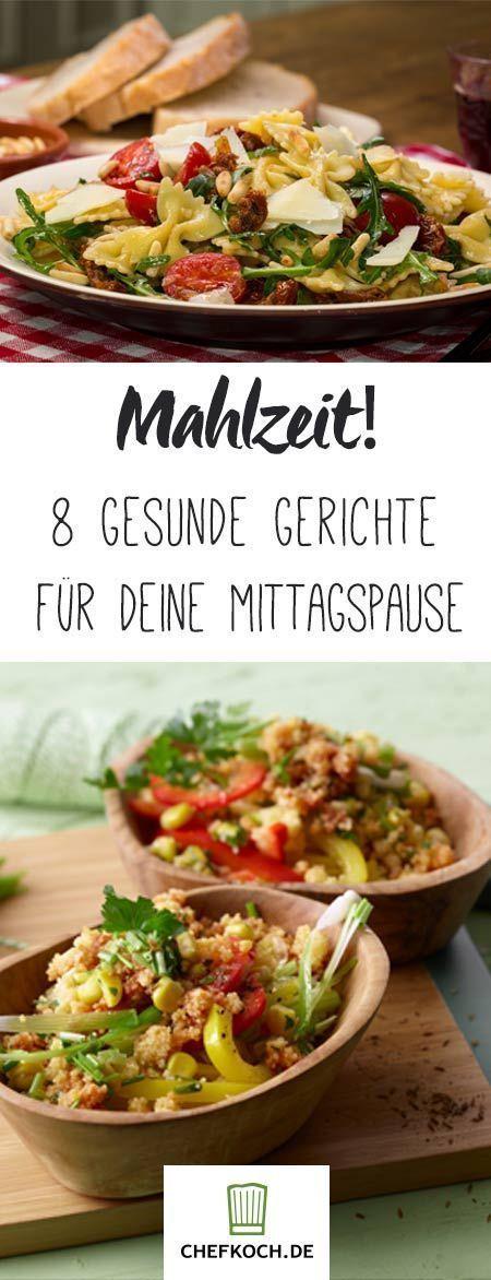8 top recipes for a healthy lunch break  -  Hautpflege-Rezepte