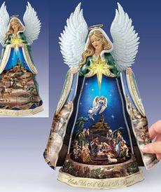 Фарфоровая фигурка ангела - Рождественский ангел