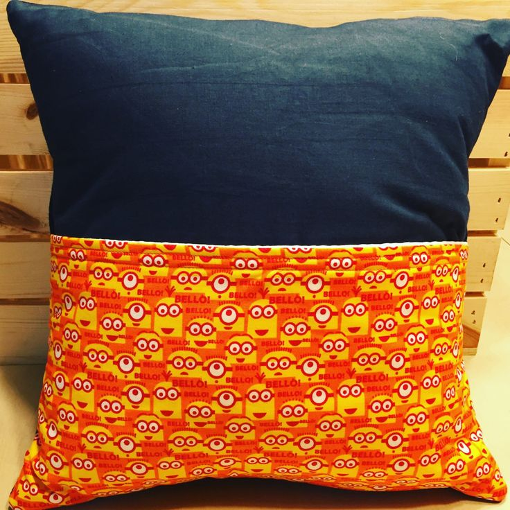Minion Pocket Pillow by thescrappyquilter22 on Etsy